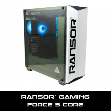 RANSOR Gaming Force 5 Core: Intel Core i5-9400F, NVIDIA GTX 1660TI 6GB, 8 GB DDR4, 1 TB HDD, 500W PSU, Windows 10 Home - 1 Year Warranty - RNSR-PC-F5-CORE-01
