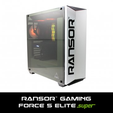RANSOR Gaming Force 5 Elite Super Edition: Intel Core I5-9600K, NVIDIA GeForce RTX 2060 8GB Super Edition, 16 GB DDR4 RGB RAM, 500 GB SSD, 2 TB HDD, 600W PSU, Liquid Cooling, Windows 10 Home - 1 Year Warranty - RNSR-PC-F5-ELITE-02S