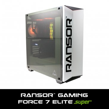 RANSOR Gaming Force 7 Elite Super Edition: Intel Core I7-9700K, NVIDIA GeForce RTX 2070 8GB Super Edition, 16 GB DDR4 RGB RAM, 500 GB SSD, 2 TB HDD, 700W PSU, Liquid Cooling, Windows 10 Pro- 1 Year Warranty - RNSR-PC-F7-ELITE-02S