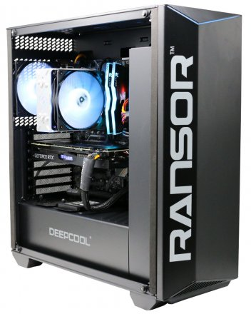RANSOR Gaming Force 7 Pro - Super Edition: Intel Core i7-9700, Nvidia 2070 8GB Super Edition , 16 GB DDR4 RAM, 500 GB SSD, WD 1 TB, 600W PSU, Windows 10 PRO - 1 Year Warranty - RNSR-PC-F7-PRO-02S