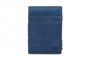 Garzini Magic Coin Wallet RFID Leather Essenziale Hold Up to 10 Cards - Sapphire Blue