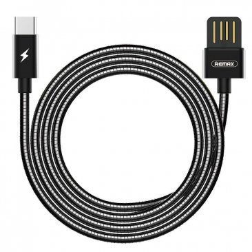 REMAX RC-080a 1m USB to USB-C / Type-C Data Sync Charging Cable - Black