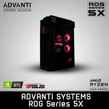 ADVANTI Systems ROG Series 5X: AMD 5600X, NVIDIA GeForce RTX 3070 8GB, 32 GB DDR4 RAM, 500GB M.2 SSD, 1TB SDD, 750W Power Supply - 1 Year Warranty
