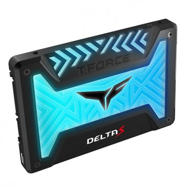 Team Group 250GB T-FORCE DELTA 12V RGB SSD - Black - T253TR250G3C312