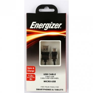 Energizer C12UBMCGBK4 CL Micro USB Cable Round Black 1.2M