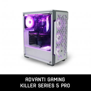 ADVANTI Gaming Killer Series 5 Pro: Intel i5-9600K, Nvidia GTX1070 8GB GDDR5, 16GB DDR4 RAM, 250GB SSD, WD 1TB HDD, 600W PSU, Windows 10 Home  - 1 Year Warrant - ADV-G-K-S5PRO