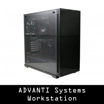 ADVANTI SYSTEMS WORKSTATION 14059: INTEL CORE I9-7920X, 32 GB RAM, QUADRO RTX 4000 8GB, 500 GB NVME SSD, 6 TB STORAGE, 750W PSU, WINDOWS 10 PRO - 1 YEAR WARRANTY