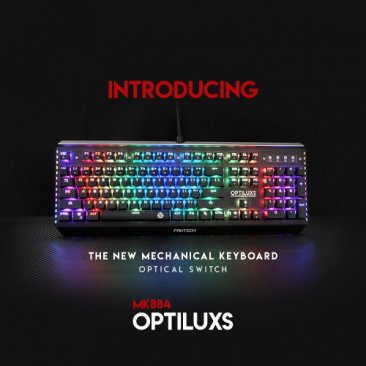 Fantech MK884RGB Optiluxs Full Size RGB Optical Switch Keyboard