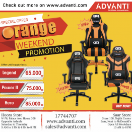 Orange Weekend Promotion! Get any of RANSOR Gaming Legend, Power II and Hero orange chair for a more less price!